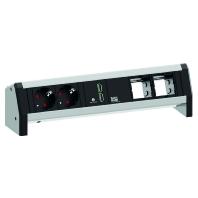 902.0183 - Steckdoseneinheit Desk1 sw,2xSchuko,USB,2xCM 902.0183