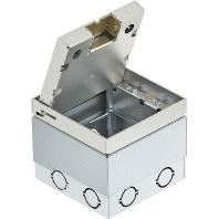 UDHOME2 V - Bodensteckdose komplett leer für 2 Modul45 UDHOME2 V