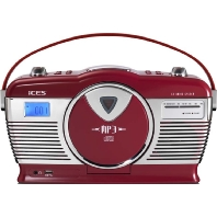 Ices ISCD33 red (2 Stück) - Retroradio CD/MP3 USB,tragbar Ices ISCD33 red