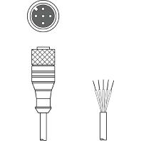 CB-M12-5000E-5GF - Anschlussleitung L=5000mm CB-M12-5000E-5GF
