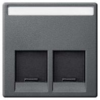 MEG4574-0414 - Zentralplatte 2fach anth MEG4574-0414