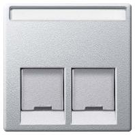 MEG4574-0460 - Zentralplatte 2fach alu MEG4574-0460
