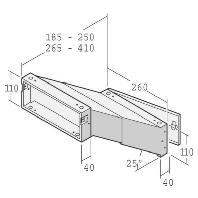 14-1-20923 vz - Einbau-Briefkasten ausziehbar 265-410mm 14-1-20923 vz