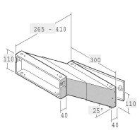 14-1-21223 vz - Einbau-Briefkasten ausziehbar 265-410mm 14-1-21223 vz