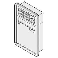 10-0-25013 ws - Briefkasten UP RAL9016 mit RS3000 10-0-25013 ws