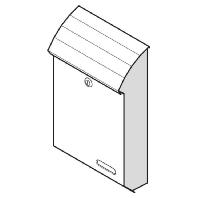15-1-10711 ws - Briefkasten RAL9016 Typ Volta 15-1-10711 ws