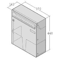 17-1-49746 eds - Briefkasten mit Zeitungsklappe 17-1-49746 eds
