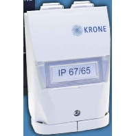 6690 1 860-10 - Ind.Anschlussdose sw IP67/65, KM8 RJ45 6690 1 860-10