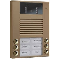 AVE14063-0012 - Video color Außenstation 6Tast 2reih.AP bro AVE14063-0012