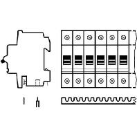 SZ-KS 1/12  - Univers.Kammschiene 1p. 12qmm 12TE SZ-KS 1/12