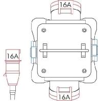 57148 - Tragbarer Verteiler Vollgu mmi IP44 57148