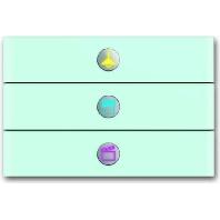 6342-810-101 - Bedienelement 3fach Glas weiß 6342-810-101