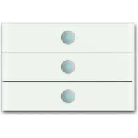 6342-811-101 - Bedienelement 3fach, weißglas 6342-811-101