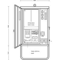 AV 32/321-1 - Anschlußverteilerschrank 22kVA 1xFI 40/0,03A AV 32/321-1