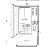 AV 63/3111-1 - Anschlußverteilerschrank 44kVA 1xFI 63/0,03A AV 63/3111-1