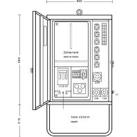 AV 63/621-1 - Anschlußverteilerschrank 44kVA 1xFI 63/0,03A AV 63/621-1