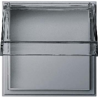 Gira TX 44 Overgangsplaat met transparant klapdeksel aluminium
