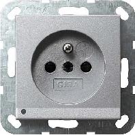 117226 - Steckdose CEBEC alu mit LED-Beleuchtung 117226
