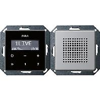 2280203 - Unterputz-Radio RDS E22 alu 2280203