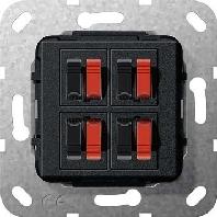 569410 - Lautsprecher Anschluss 4fach sw matt 569410