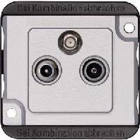 259160 - Sat-Antennendose PANZER 3fach, mattsilber 259160
