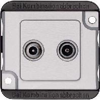 299460 - BK/Sat-Antennendose ma/si Stichdose 2-fach 299460
