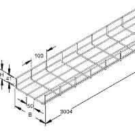 GRS 60.200 (3 Meter) - Gitterrinne GRS 60.200