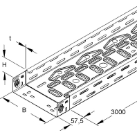 RLVC 60.400 E3 (3 Meter) - Kabelrinne Edelstahl RLVC 60.400 E3