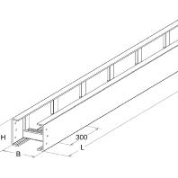 UL 100.400 - GFK-Kabelleiter UL 100.400