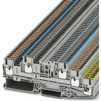 PTB 2,5-PE/L/NTG (50 Stück) - Installations-Etagenklemme 0,14-4qmm, grau PTB 2,5-PE/L/NTG