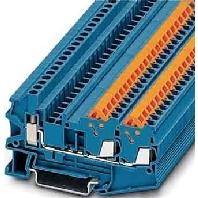 QTCU 1,5-TWIN BU  (50 St�ck) - Durchgangsklemme, blau H=5,2mm 0,25-1,5qmm QTCU 1,5-TWIN BU