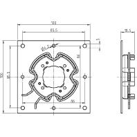 4015K-01 - Click-Antriebslager für System Veka/Exte 4015K-01