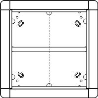 1881550 - Portier UP-Rahmen gr/br 4-fach,qua 238x238mm 1881550