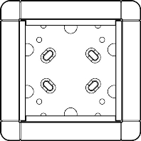1883170 - Portier AP-Rahmen ws 1-fach, 133x133mm 1883170