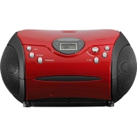 SCD24 red/black - UKW-Radio m.CD stereo,rot/schwarz SCD24 red/black