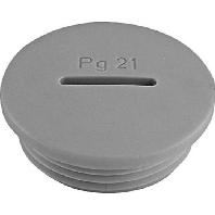 PA6 M20 gr (50 Stück) - Blindstopfen PA6 M20 gr