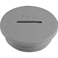 PA6 M63 gr (5 Stück) - Blindstopfen PA6 M63 gr