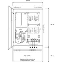 AV 80/4 - Anschluss-Schrank AV 80/4
