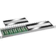 12xVM8-8 - Kabelverbinder Multi 12x Cat.7, 19 Zoll, RAL7035 12xVM8-8
