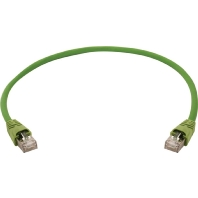 Telegärtner Netwerk Aansluitkabel CAT 7 S-FTP 7.50 m Geel-groen