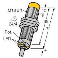 DNi12U-M18E-AP4X3 - Drehzahlwächter DNi12U-M18E-AP4X3