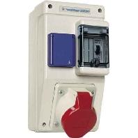 6580105 - Steckdosenkombination Kunststoff, Wandgeh. 6580105