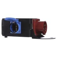 349.028 - CEE-Adapter 1xSt.16A 400V 3xSchu 349.028