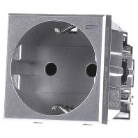 HC4141W - Schukosteckdose aluminium SL schutz, 16A/250V 2-modulig Aluminium HC4141W - Aktionspreis