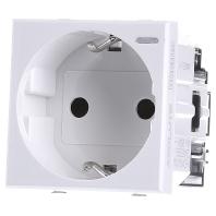 HD4141W - Schukosteckdose weiss SL schutz, 16A/250V 2-modulig weiss HD4141W - Aktionspreis