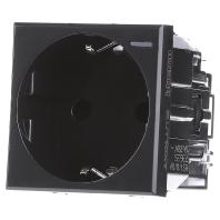 HS4141W - Schukosteckdose anthrazit SL schutz, 16A/250V 2-modulig Anthrazit HS4141W - Aktionspreis