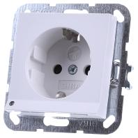 117027 - Schuko-Steckdose rws-matt mit LED-Beleuchtung 117027