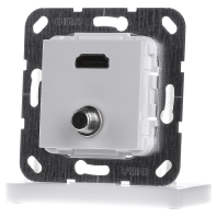 567503 - UP Tragring HDMI und SAT F-Buchse rws 567503