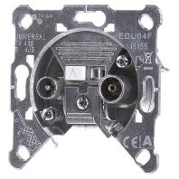 EDU 04 F - Einzeldose 2-Loch Universal EDU 04 F