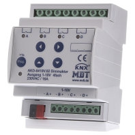 AKD-0410V.02 - KNX/EIB Dimmaktor 4-fach, 4TE, REG, 1-10V, RGBW AKD-0410V.02